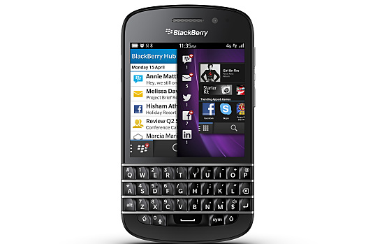 The New BlackBerry Q10 Smartphone