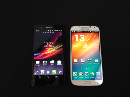 xperia z vs. galaxy s4