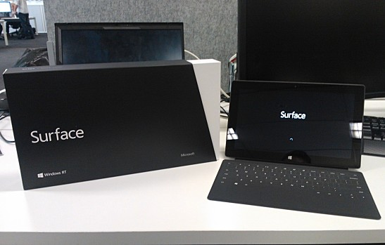 Microsoft Surface Tablet and Box