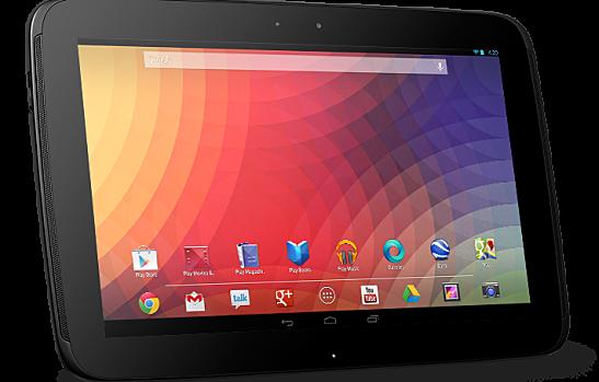 Google's popular Nexus 10 tablet.