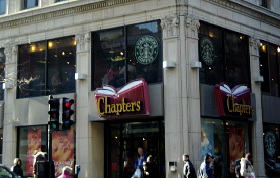 Starbucks in Chapters Bookstore
