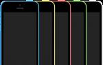 iPhone 5c Colors