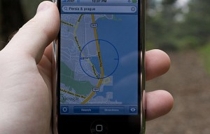 iPhone map