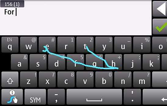 Trace Typing with Swype Keyboard for Android