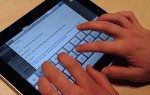 Using the iPad on-screen keyboard