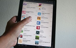multiple applications on tablet