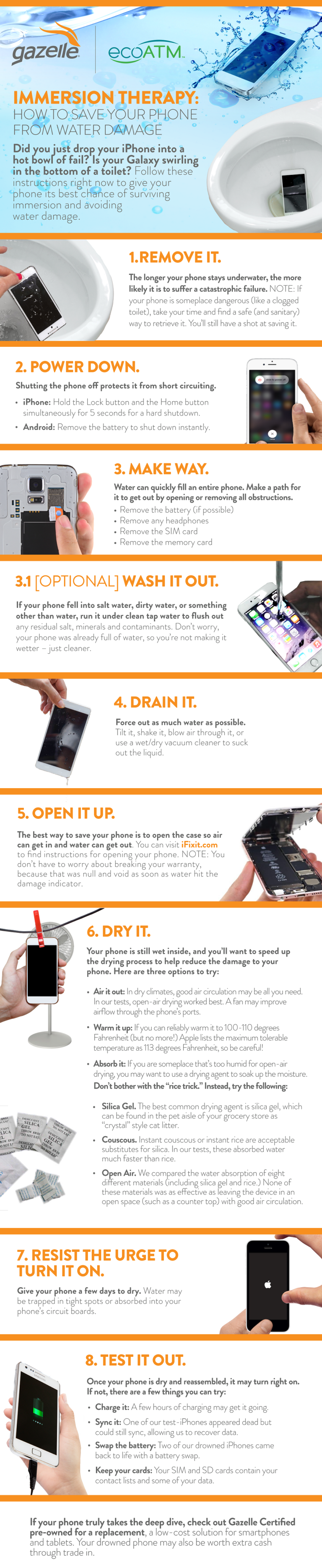 Immersion Therapy: How to save your phone from water damage