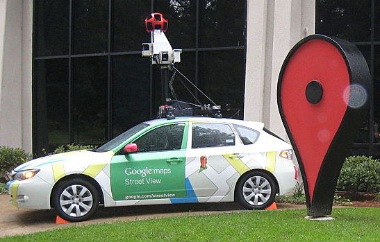 Google Street View Car and Map Icon