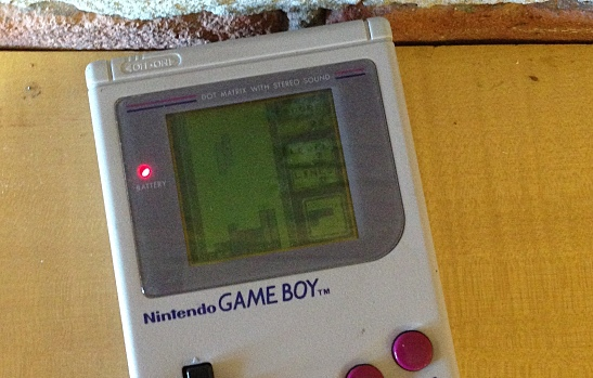 Game Boy Playing Tetris
