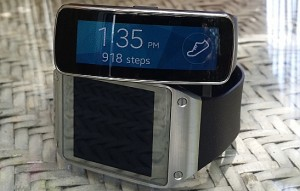 Samsung Galaxy Gear Fit and Original Galaxy Gear smartwatch
