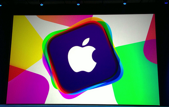 Apple's stage at the 2013 WWDC
