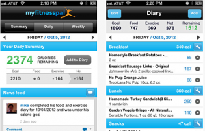 MyFitnessPal on smartphone