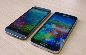 Samsung Galaxy S5 HTC One M8