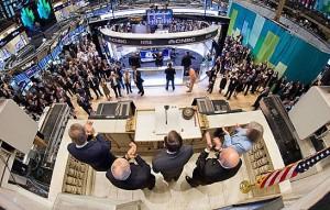 Ringing opening bell at NYSE