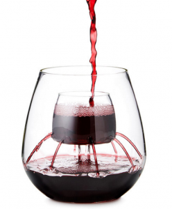 Stemless Fountain Aerating Wine Glass