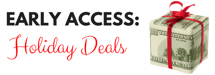 Early 2016 Holiday Deals